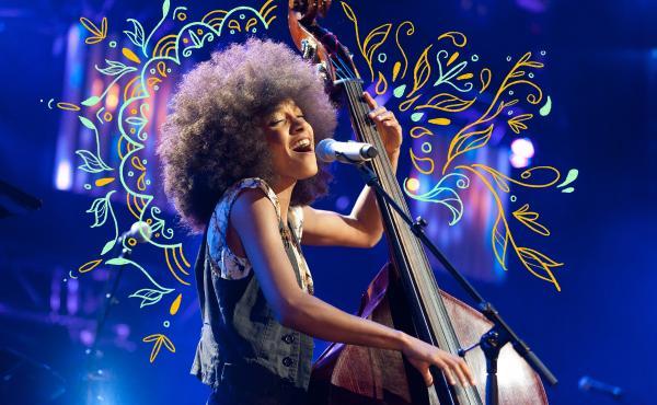 Esperanza Spalding performs at the 2011 Montreux Jazz festival in Switzerland.