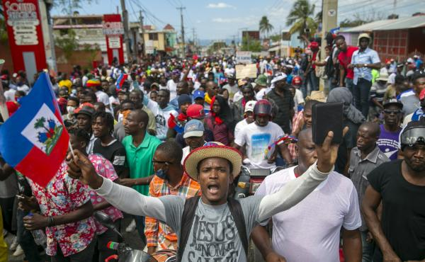 In February, protesters demanded the resignation of Haitian President Jovenel Moïse in Port-au-Prince. The opposition believed his term had ended.