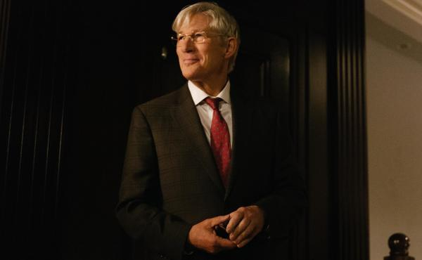 """Actor Richard Gere says of his new character, """"I think there's a kindness and softness in Norman, where he really believes these schemes are going to be good for people."""""""