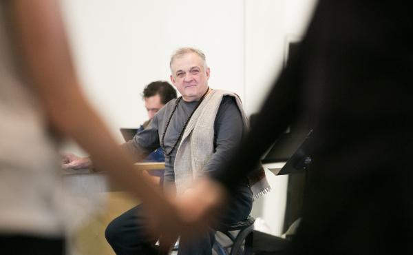Choreographer and director Mark Morris, pictured here at a rehearsal in 2017, will release a new memoir called Out Loud.