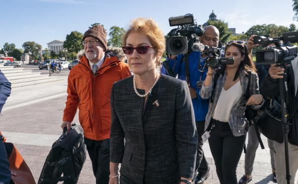 Former U.S. Ambassador to Ukraine Marie Yovanovitch testified Oct. 11 as part of the House impeachment inquiry into President Trump. The full transcript of her testimony was released Monday.