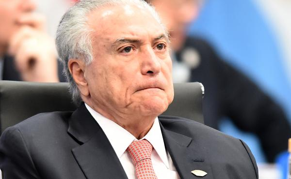 Former Brazilian President Michel Temer, pictured in 2018, was arrested Thursday on corruption charges. He faced similar charges of bribery in 2017, during his brief stint in office. The 78-year-old denies any wrongdoing.