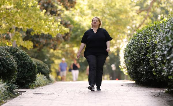 "On the advice of a co-worker, Dehne joined a six-week program through which she learned how to safely walk to ease her pain. Now Dehne briskly walks for exercise and enjoyment multiple times a week. Her knees, she says, ""don't hurt me anymore."""