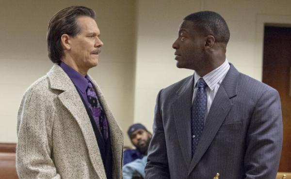 Kevin Bacon, left, and Aldis Hodge play an FBI agent and a district attorney who team up to root out corruption in the Showtime series City on a Hill.