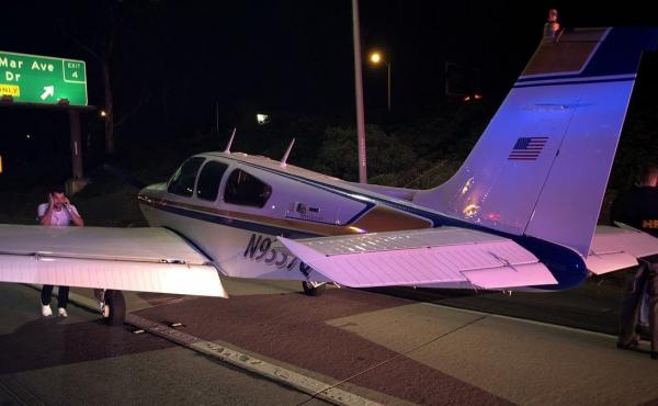 A plane en route to John Wayne Airport in Orange County, Calif., was losing altitude so the pilot decided to take the freeway.
