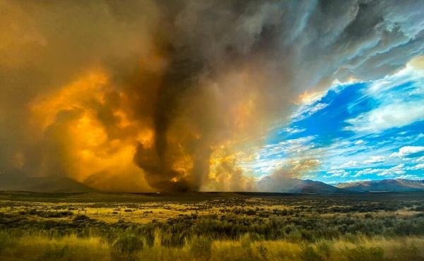A wildfire in Lassen County in Northern California on Saturday spawned at least one fire tornado that prompted the National Weather Service to issue a tornado warning. As of Monday, firefighters were still trying to contain the blaze.