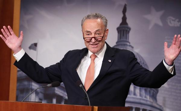 Senate Minority Leader Chuck Schumer of New York is being blamed by President Trump for promoting a visa program that was used by the alleged driver of the truck in the New York terrorist attack.