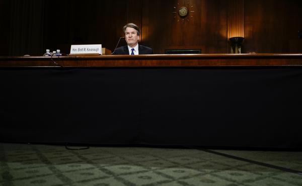 Judge Brett M. Kavanaugh at a Senate Judiciary Committee hearing on Thursday, September 27, 2018 on Capitol Hill.