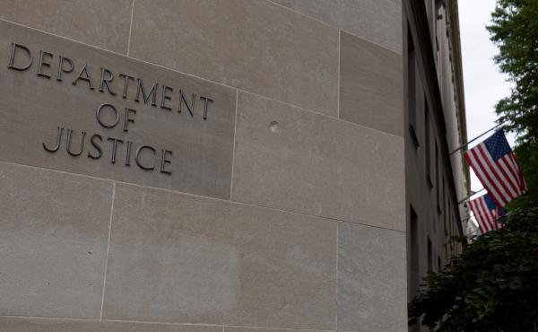 The U.S. Department of Justice building.