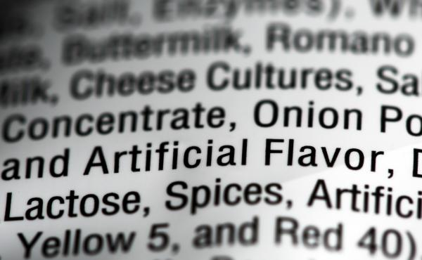 """Food additives can help mimic natural flavors and are often simply labeled as """"artificial flavors"""" on labels."""