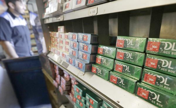 Menthol cigarettes and other tobacco products at a store in San Francisco in 2018. U.S. health regulators announced a new effort Thursday to ban menthol cigarettes.