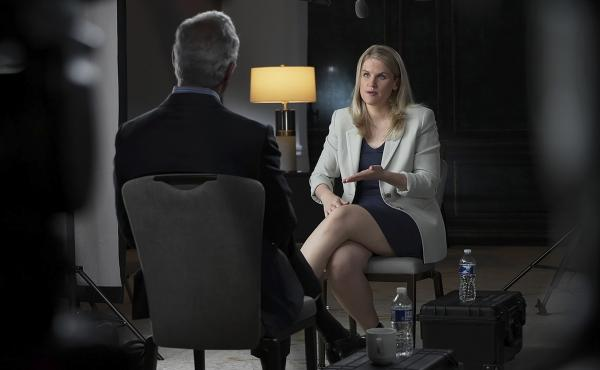 Facebook whistleblower Frances Haugen talks with CBS' Scott Pelley on a 60 Minutes episode that aired Sunday.