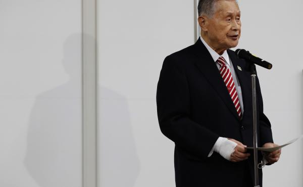 Tokyo Olympics organizing chief Yoshiro Mori apologized at a news conference on Thursday, one day after making sexist comments that prompted a swift backlash in and beyond Japan.