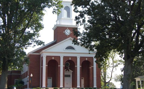 The Annie Merner Pfeiffer Chapel is seen on the campus of Bennett College in Greensboro, N.C. The college, one of two historically black colleges for women, is fighting to maintain its accreditation.