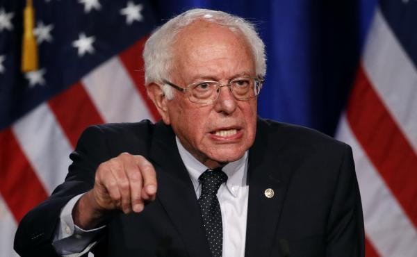 "Democratic presidential candidate Sen. Bernie Sanders of Vermont speaks about his ""Medicare for All"" proposal on Wednesday at George Washington University."