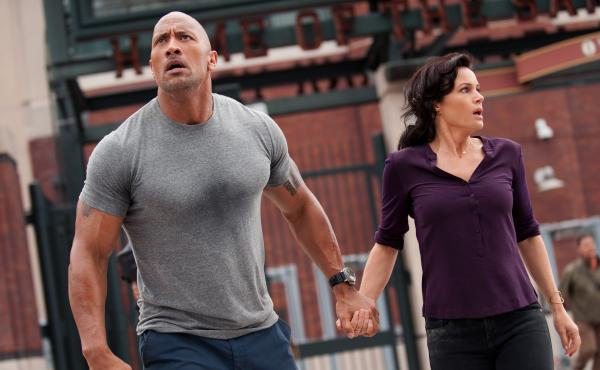 """Dwayne """"The Rock"""" Johnson and Carla Gugino star in the action thriller San Andreas."""