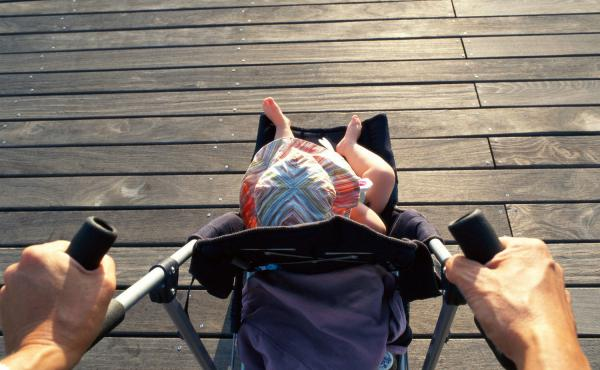 Buckle up for safety in strollers, too.