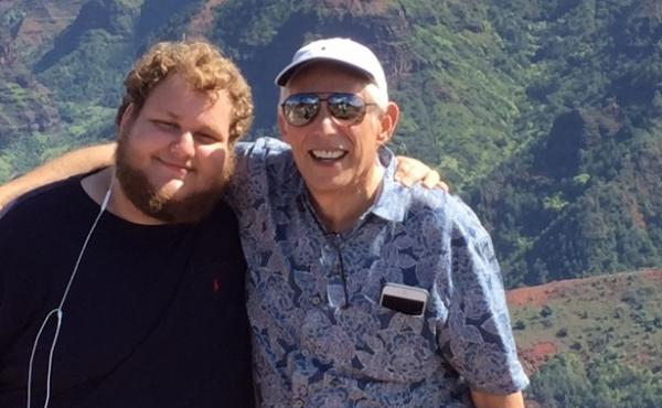 """Robert Schwimmer, 66, and his son Scott Schwimmer, 21, spoke with NPR about Robert's wish to hasten his death under certain circumstances. Here — as in the family photo above — they're in Kauai, Hawaii, on the family's """"last big trip"""" after Robert rec"""