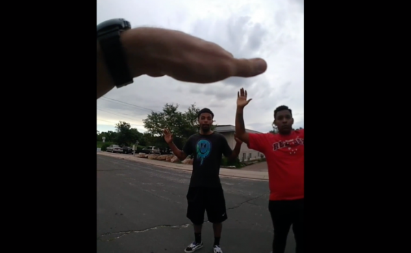 A screenshot from video recently released by the Colorado Springs Police Department, which captured the moments before De'Von Bailey ran from police and was shot in the back on Aug. 3. He later died from his injuries.