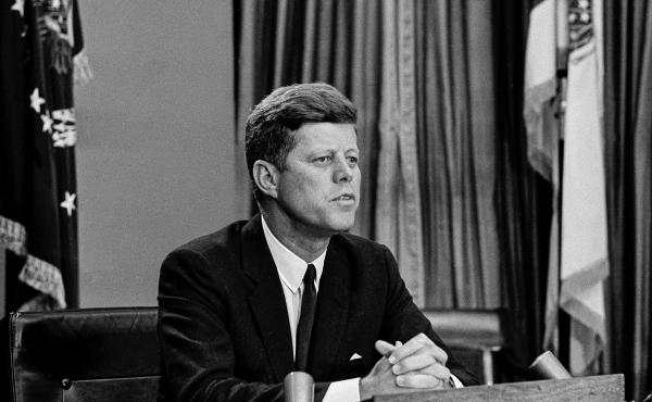 President John F. Kennedy makes a nationwide televised broadcast on civil rights in the White House, June 11, 1963. Americans often look to presidents for moral clarity in critical moments.