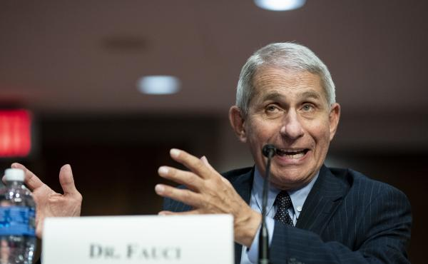 Dr. Anthony Fauci, director of the National Institute of Allergy and Infectious Diseases, speaks during a Senate Health, Education, Labor and Pensions Committee hearing on June 30, 2020.