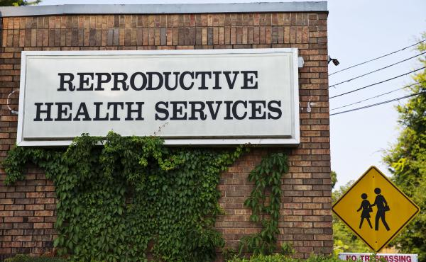Reproductive Health Services, shown here in 2014, is a Montgomery, Ala., clinic that performs abortions and is the plaintiff in this federal lawsuit.