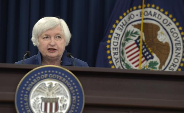 Federal Reserve Chair Janet Yellen speaks during a news conference in Washington, D.C., on Wednesday.