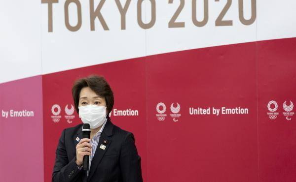 Seiko Hashimoto, president of the Tokyo 2020 Olympics Organizing Committee, speaks during the Tokyo 2020 Executive Board meeting Thursday.