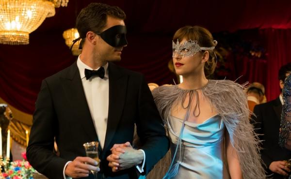 The Masque of the Bed Death: Christian (Jamie Dornan) and Anastasia (Dakota Johnson) try to keep things interesting in Fifty Shades Darker.