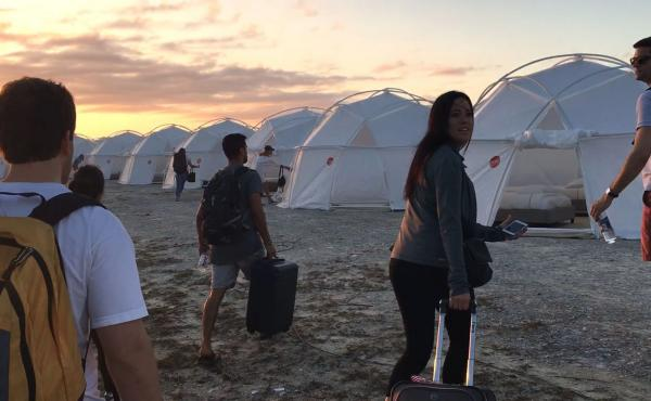 Festival attendees wound up dragging their luggage to tents — and that's only one of the indignities documented in the Netflix film Fyre.