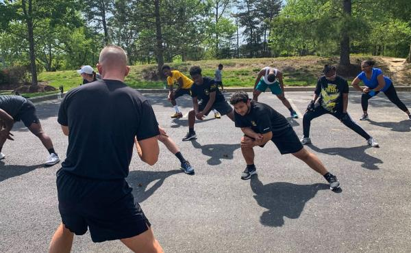 Ahlstrom's 90-minute weekly workouts ultimately helped Robinson drop 65 pounds by March. He's now enlisted and starts basic training this month.