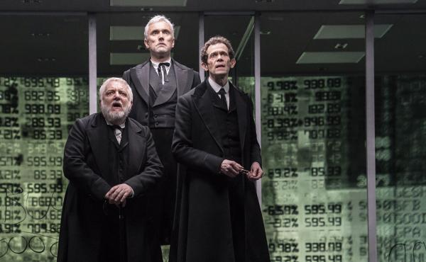 Simon Russell Beale, Ben Miles and Adam Godley portray multiple characters in The Lehman Trilogy, about the rise and fall of Lehman Brothers.