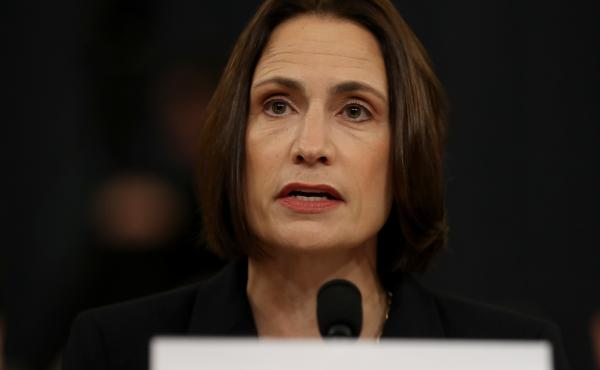 Fiona Hill, the National Security Council's former senior director for Europe and Russia, testifies before the House Intelligence Committee in the Longworth House Office Building on Capitol Hill Nov. 21, 2019 in Washington, DC.