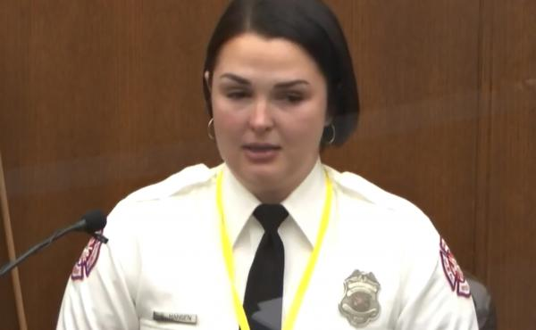 Minneapolis Firefighter Genevieve Hansen testifies Tuesday in the trial of former Minneapolis police Officer Derek Chauvin, in the May 25, 2020, death of George Floyd.