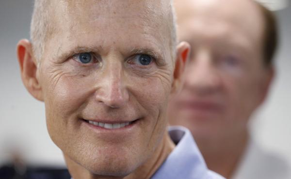 Florida Gov. Rick Scott last May. Monday he approved the state's first execution in 18 months.