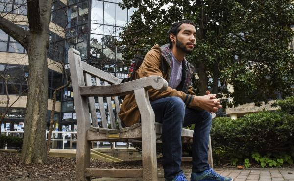 Caleb Torres, a senior at George Washington University, says he ran out of grocery money his freshmen year, so he began skipping meals.