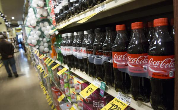 Food assistance recipients spend about 10 percent of their food budget on sugary drinks, while the rest of the population spends about 7 percent.