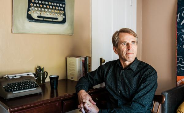 For years, Robert Shireman, shown here at his home in Berkeley, Calif., has been accused of corruptly sharing insider information with investors while serving as a federal official. Those claims aren't true. But they live on.