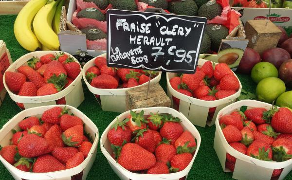 Cléry strawberries are on sale at a market in Paris. Strawberries take over the city's outdoor markets — and one woman's memory — in May.