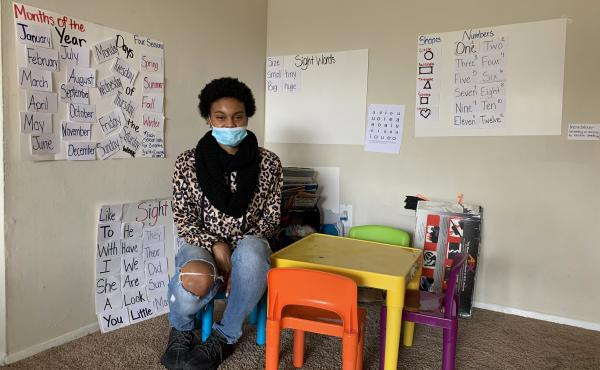 Aniya's overnight shift at an Amazon warehouse became impractical when daycare and school were canceled for her two children because of the pandemic. She was able to avoid eviction with the help of a lawyer and emergency rental assistance but she recently