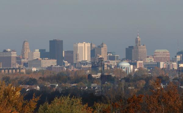 The city skyline of downtown Buffalo, N.Y. on October 21, 2012.