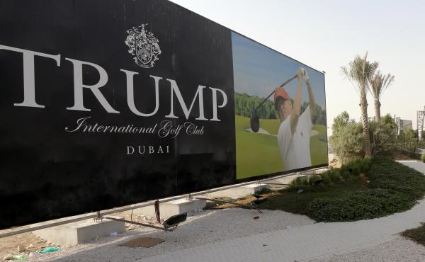 The Trump International Golf Club in Dubai is part of the president-elect's real estate empire. Trump has said his sons would run his companies while he's president.