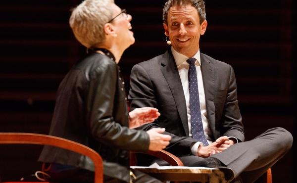 In celebration of Fresh Air's 30th anniversary, Seth Meyers joined Terry Gross for a taping in front of a live audience on June 9, 2017, in Philadelphia, Pa.