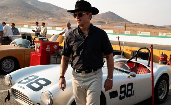 Matt Damon stars as an American car designer in Ford v Ferrari.