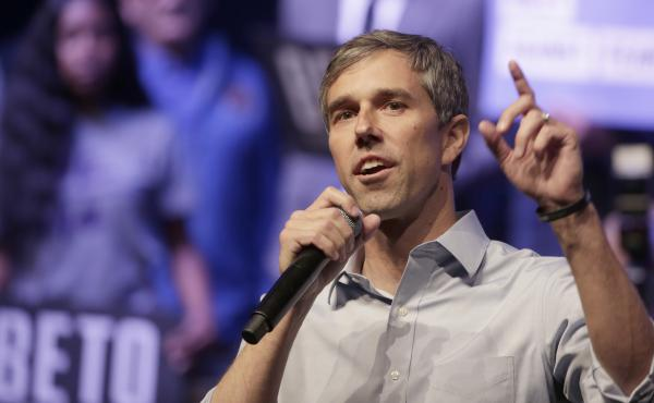Presidential Candidate Beto O'Rourke Holds A Rally Against Fear To Counter President Trump's Campaign Rally