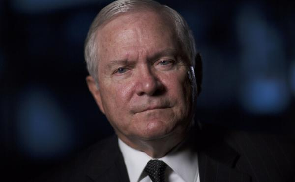 """Robert Gates is interviewed for """"The Spymasters"""" on Dec. 15, 2014."""