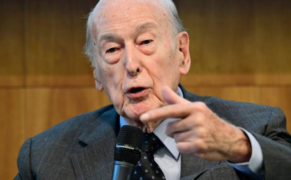Former French President Valéry Giscard d'Estaing, pictured in 2017, died Wednesday in Paris at age 94.