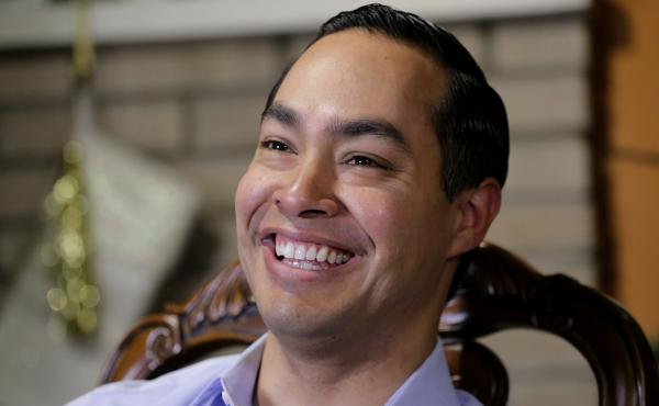 Democrat Julián Castro talks about exploring the possibility of running for president in 2020, at his home in San Antonio in December 2018.