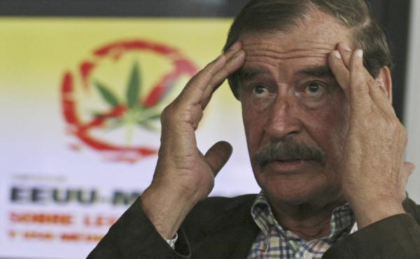 Mexico's former president Vicente Fox, shown speaking at a news conference during the U.S.-Mexico Symposium on Legalization and Medical Use of Cannabis in 2013, announced on Monday he is joining High Times' board of directors.