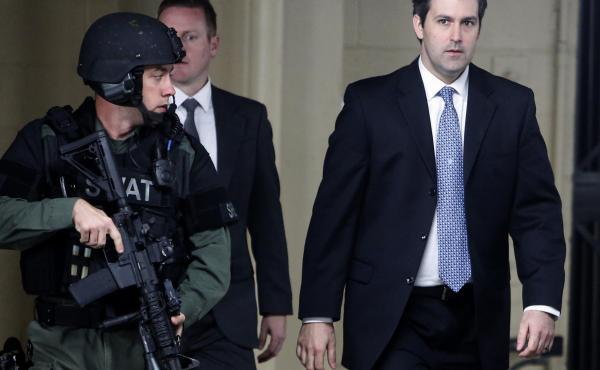 Former North Charleston, S.C., police Officer Michael Slager, seen leaving the Charleston County Courthouse after his murder trial ended in a mistrial in December 2016, pleaded guilty on Tuesday to a federal civil rights violation.